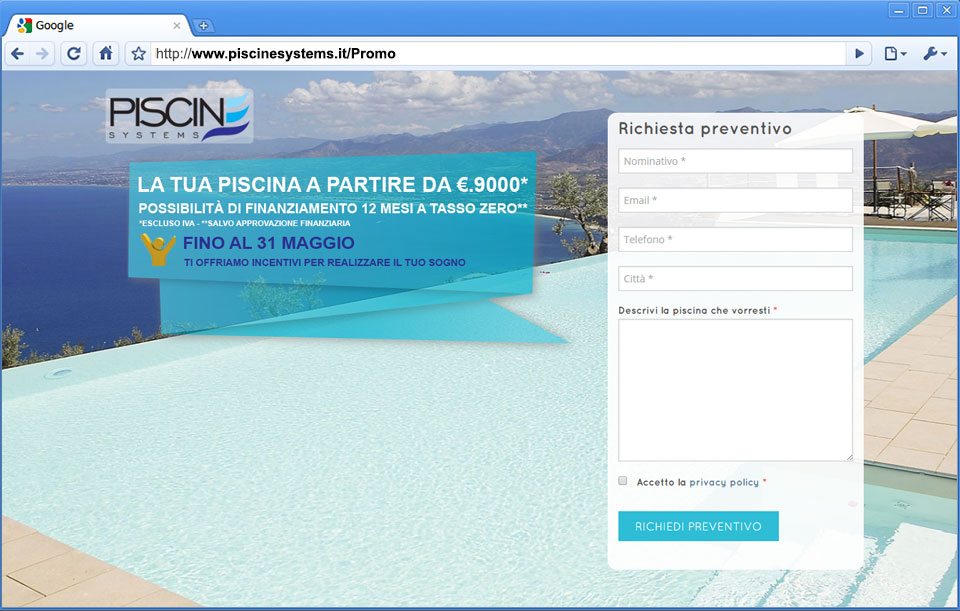 Piscine Systems Promo